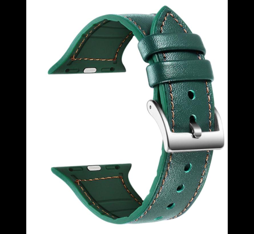 Strap-it® Apple Watch lederen bandje (groen)