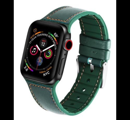 Strap-it® Strap-it® Apple Watch lederen bandje (groen)