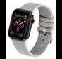 Strap-it® Apple Watch lederen bandje (wit/grijs)
