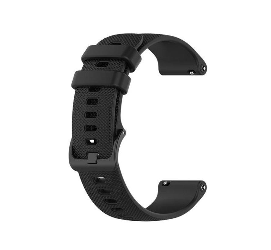Strap-it® Polar Ignite siliconen bandje (zwart)
