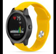 Strap-it® Garmin Vivoactive 3 sport band (geel)