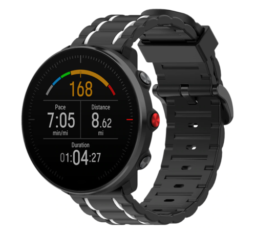 Strap-it® Strap-it® Polar Ignite sport gesp band (zwart/wit)