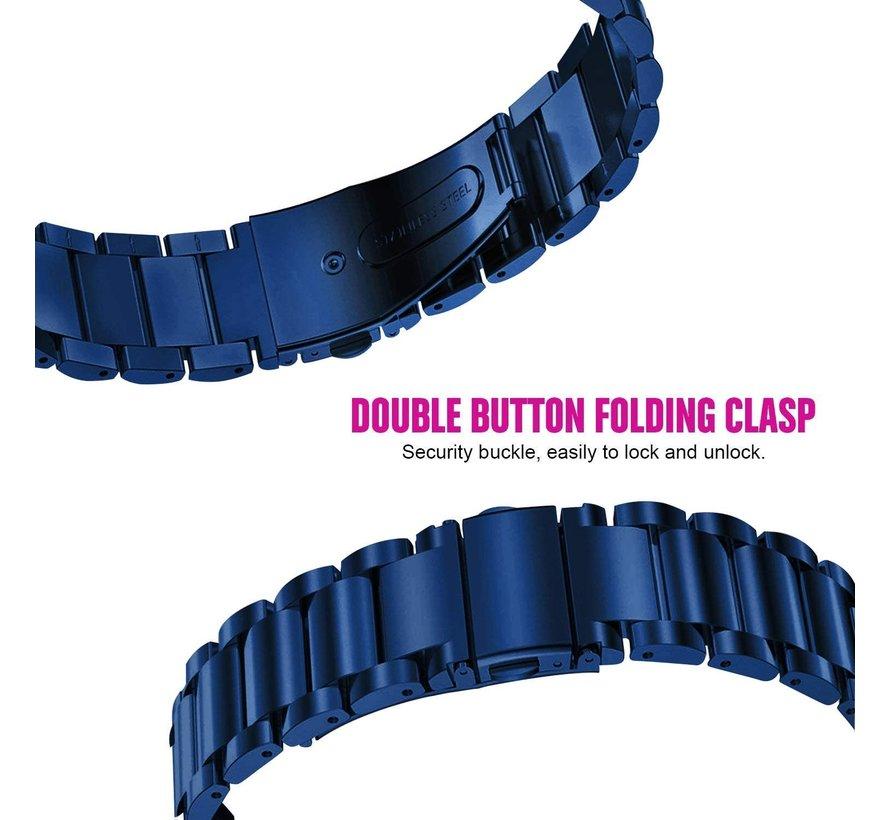 Strap-it® Polar Ignite stalen band (blauw)