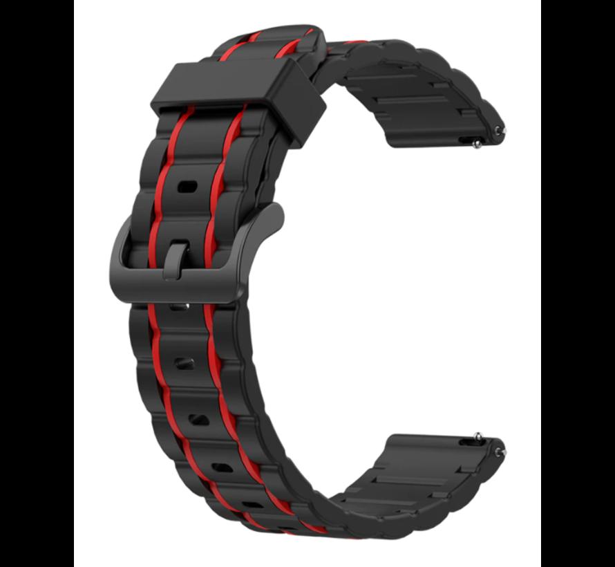 Strap-it® Polar Unite sport gesp band (zwart/rood)