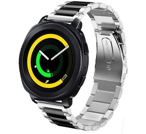 Strap-it® Strap-it® Samsung Gear Sport stalen band (zilver/zwart)