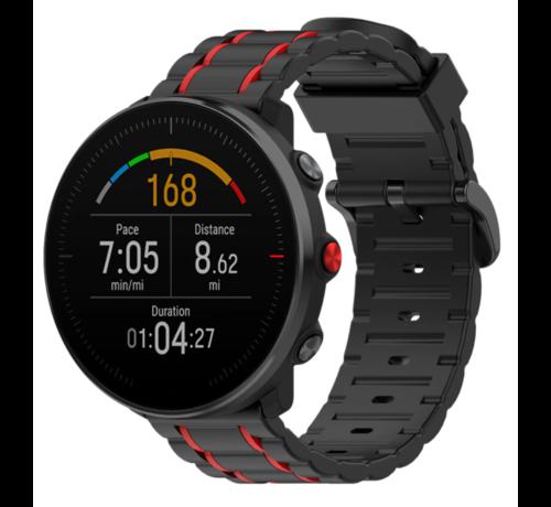 Strap-it® Strap-it® Polar Vantage M sport gesp band (zwart/rood)