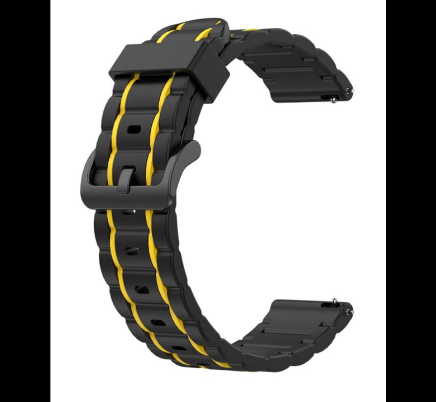 Strap-it® Polar Vantage M sport gesp band (zwart/geel)