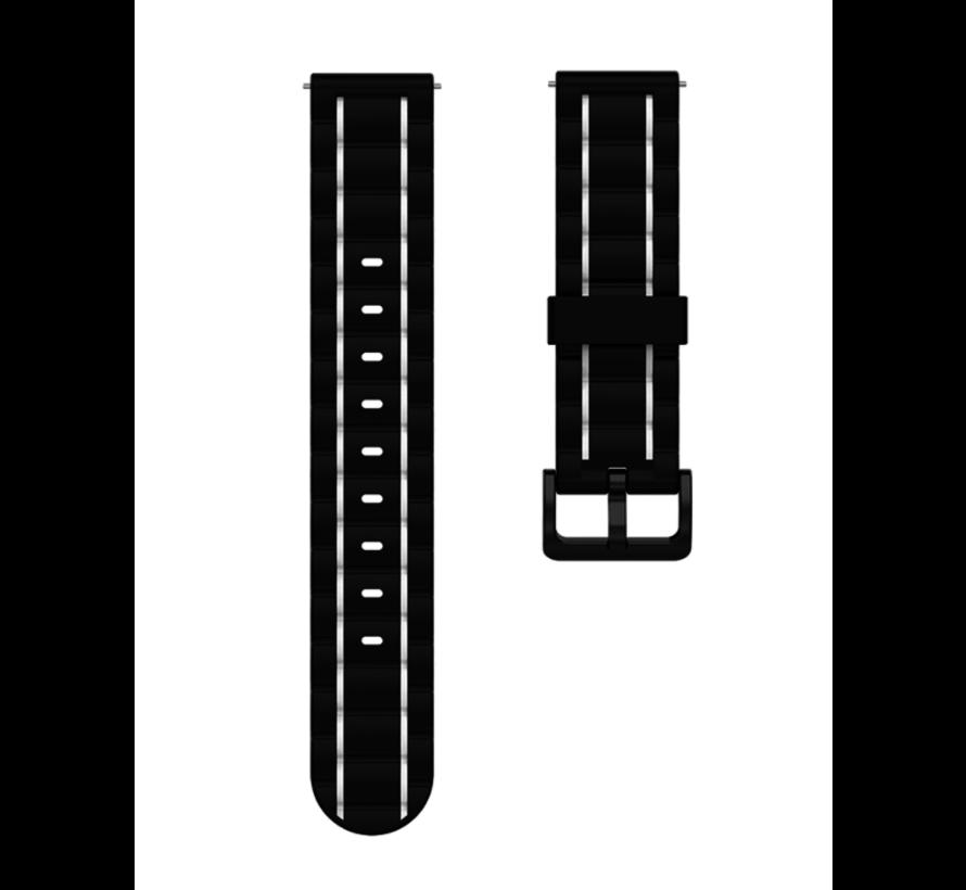 Strap-it® Polar Vantage M sport gesp band (zwart/wit)