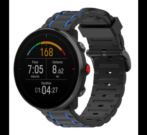 Strap-it® Strap-it® Polar Vantage M sport gesp band (zwart/blauw)