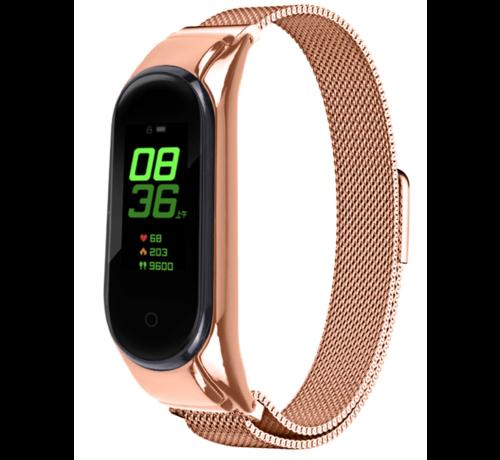 Strap-it® Strap-it® Xiaomi Mi band 5 Milanese band (rosé goud)