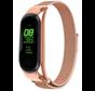 Strap-it® Xiaomi Mi band 5 Milanese band (rosé goud)