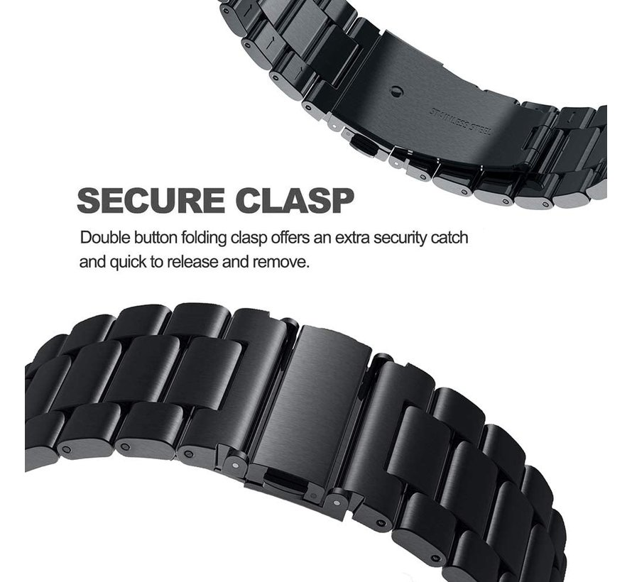 Strap-it® Polar Vantage M stalen band (zwart)