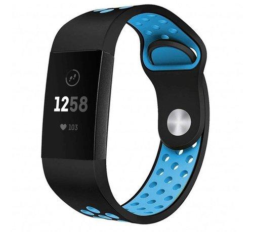 Strap-it® Strap-it® Fitbit Charge 4 sportband (zwart blauw)