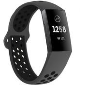 Strap-it® Fitbit Charge 3 sport bandje (donkergrijs/zwart)