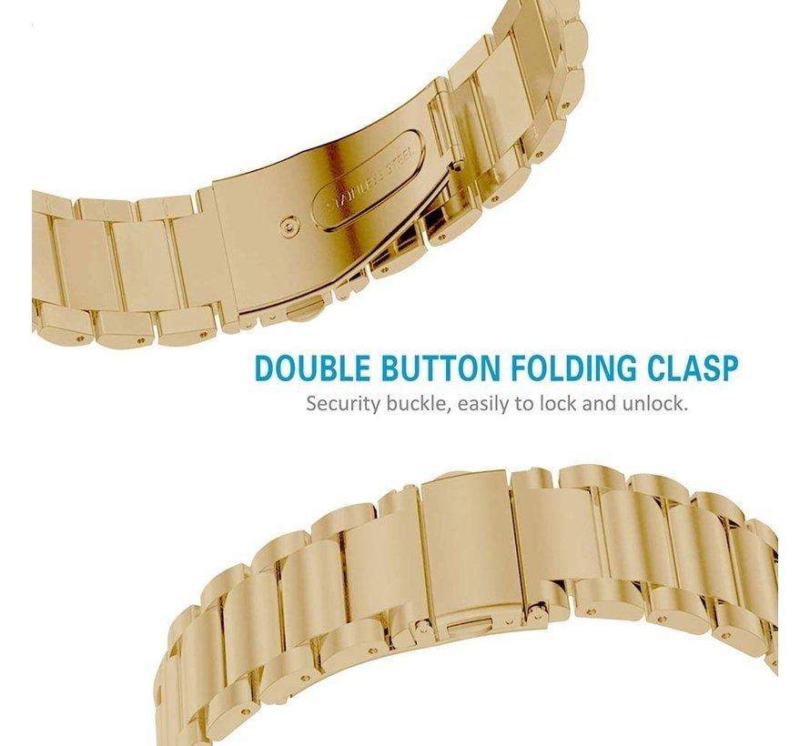 Strap-it® Fitbit Charge 3 stalen bandje (goud)