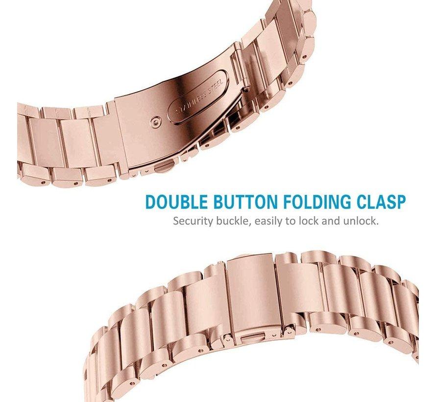 Strap-it® Fitbit Charge 3 stalen bandje (rosé goud)