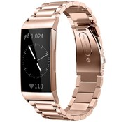 Strap-it® Fitbit Charge 4 stalen band (rosé goud)