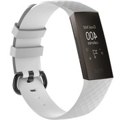 Strap-it® Fitbit Charge 3 silicone band (wit)