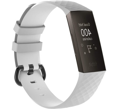 Strap-it® Strap-it® Fitbit Charge 3 silicone band (wit)