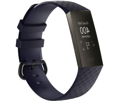 Strap-it® Strap-it® Fitbit Charge 3 silicone band (donkerblauw)