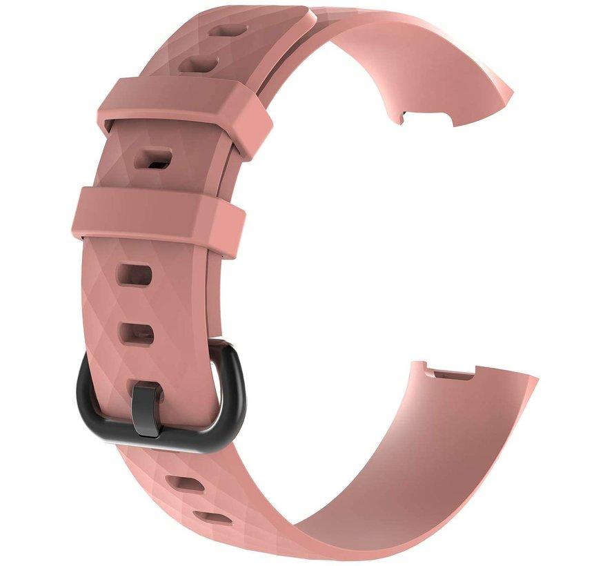Strap-it® Fitbit Charge 3 silicone band (lichtroze)