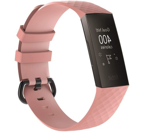 Strap-it® Strap-it® Fitbit Charge 3 silicone band (lichtroze)