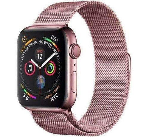 Strap-it® Strap-it® Apple Watch Milanese  band (roze)