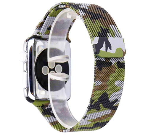 Strap-it® Strap-it® Apple Watch Milanese  band (camouflage groen)