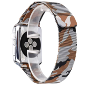 Strap-it® Apple Watch Milanese band (camouflage bruin)