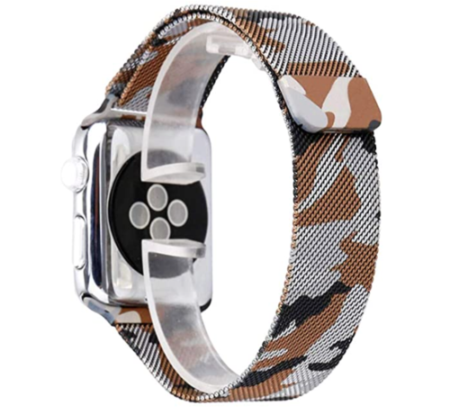 Strap-it® Strap-it® Apple Watch Milanese  band (camouflage bruin)
