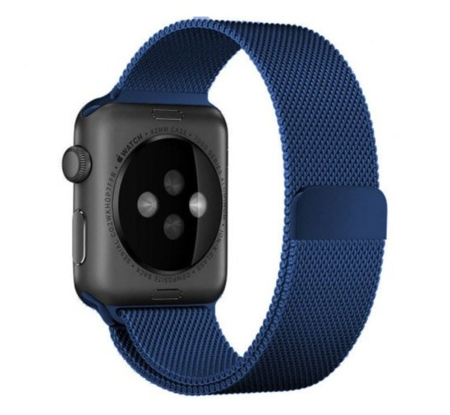 Strap-it® Apple Watch Milanese  band (blauw)