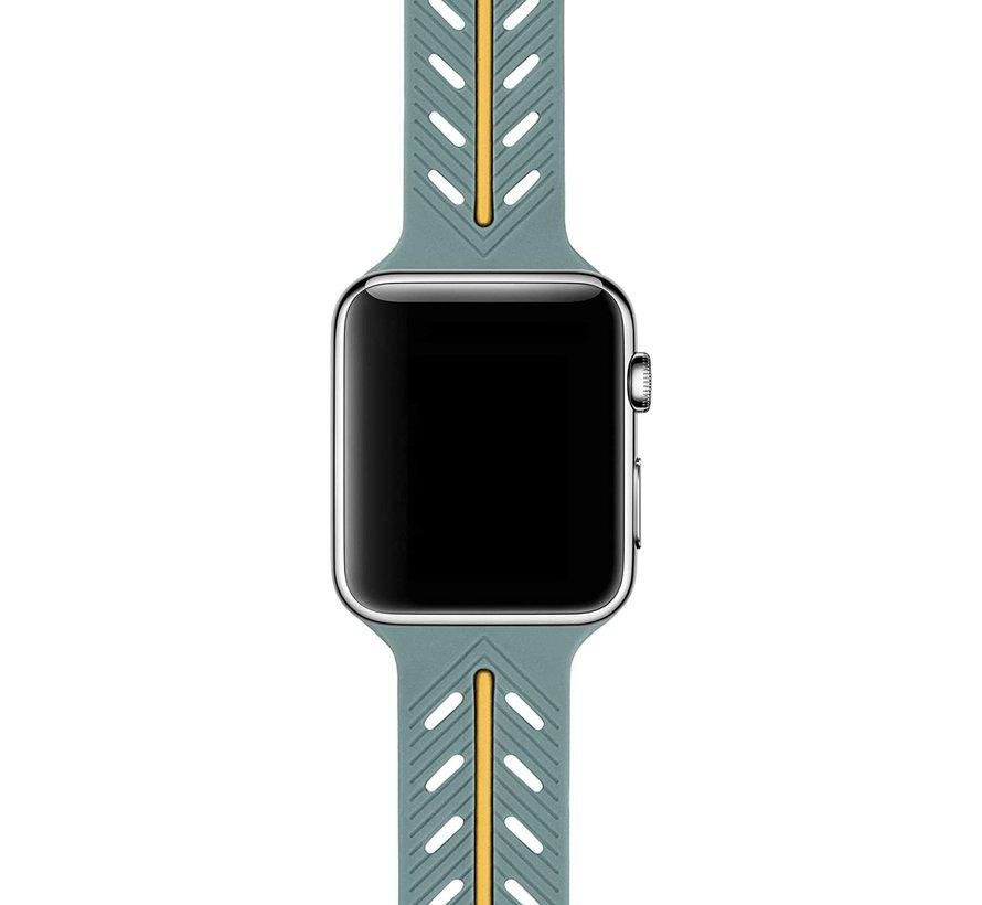 Strap-it® Apple Watch Special Edition band (groen/oranje)