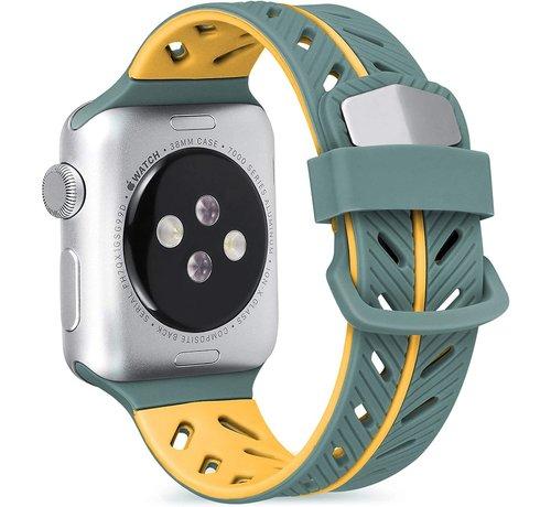 Strap-it® Strap-it® Apple Watch Special Edition band (groen/oranje)