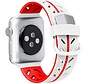 Strap-it® Apple Watch Special Edition band (wit/rood)