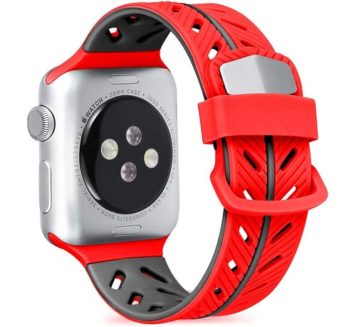 Strap-it® Strap-it® Apple Watch Special Edition band (rood/zwart)
