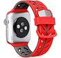 Strap-it® Apple Watch Special Edition band (rood/zwart)