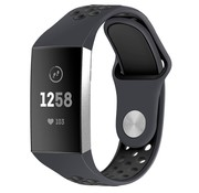 Strap-it® Fitbit Charge 4 sportband (donkergrijs/zwart)