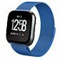 Strap-it® Fitbit Versa Milanese band (blauw)
