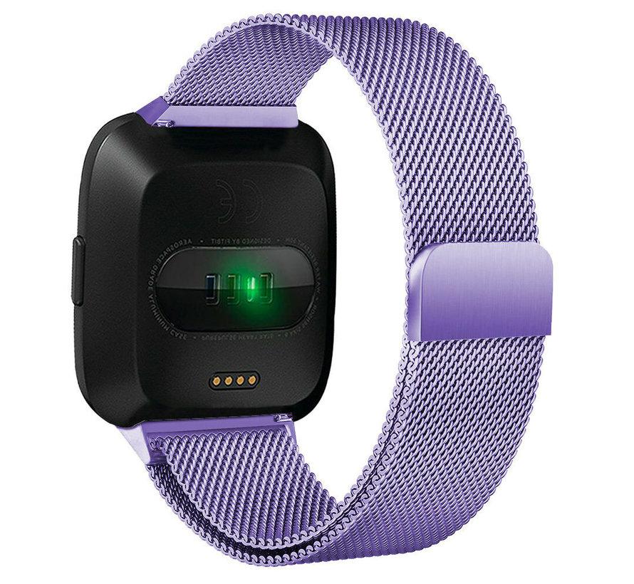 Strap-it® Fitbit Versa Milanese band (lichtpaars)