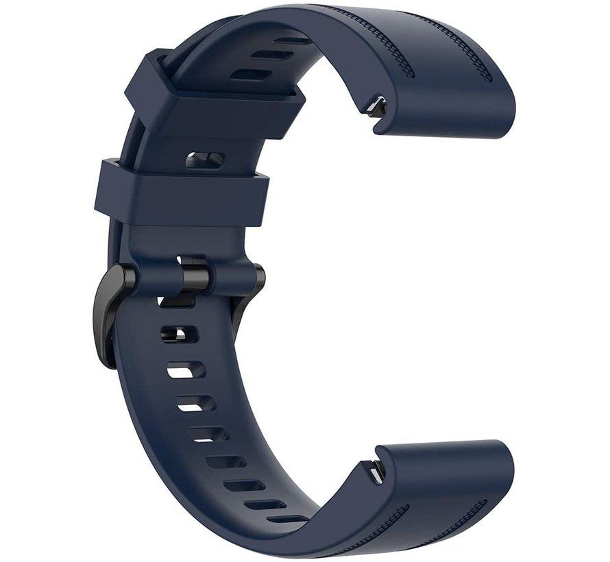 Strap-it® Garmin Fenix 5s / 6s siliconen bandje (donkerblauw)