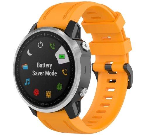 Strap-it® Strap-it® Garmin Fenix 5s / 6s siliconen bandje (oranje)