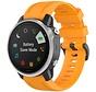 Strap-it® Garmin Fenix 5s / 6s siliconen bandje (oranje)