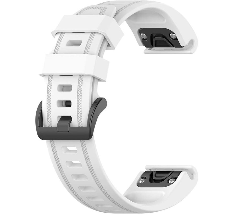 Strap-it® Garmin Fenix 5s / 6s siliconen bandje (wit)