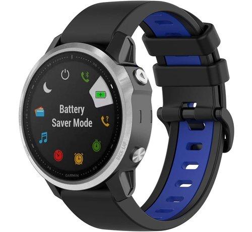 Strap-it® Strap-it® Garmin Fenix 5s / 6s sport gesp band (zwart/blauw)