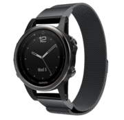 Strap-it® Garmin Fenix 5s / 6s Milanese band (zwart)