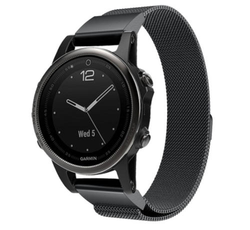 Strap-it® Strap-it® Garmin Fenix 5s / 6s Milanese band (zwart)