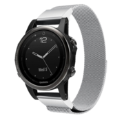 Strap-it® Garmin Fenix 5s / 6s Milanese band (zilver)