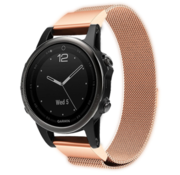 Strap-it® Garmin Fenix 5s / 6s Milanese band (rosé goud)