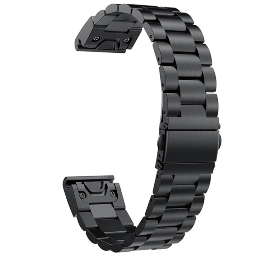 Strap-it® Garmin Fenix 5s / 6s stalen band (zwart)