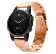 Strap-it® Garmin Fenix 5s / 6s stalen band (rosé goud)